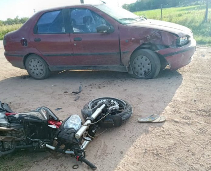 Motociclista sufrió lesiones reservadas al accidentarse en Miramar