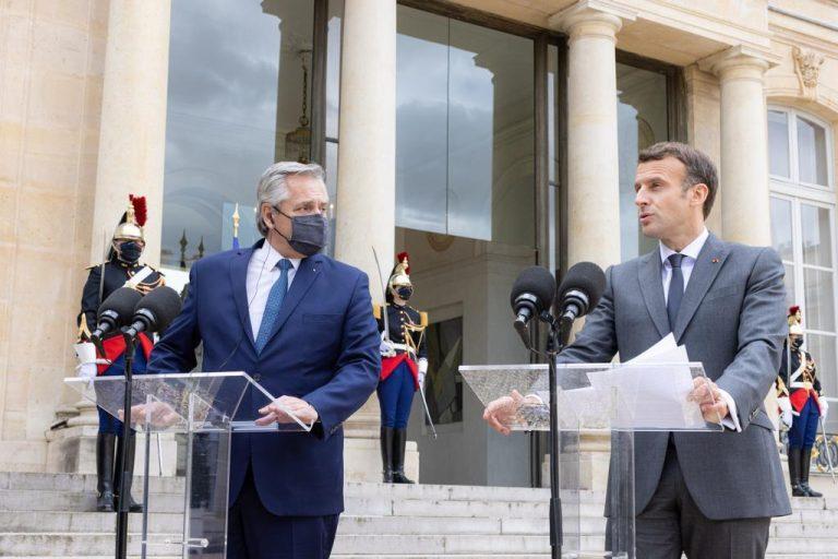 Macron a Fernández: «Francia está de su lado» en la renegociación de la deuda